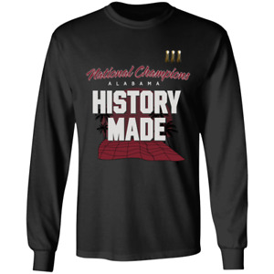 Alabama Crimson Tide  2020 College Football Champions Long Sleeve T-shirt S-3XL