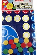 GIANT LUDO FAMILY BOARD GAME TOY BOYS GIRLS HOLIDAY GARDEN SUMMER OUTDOOR GAME