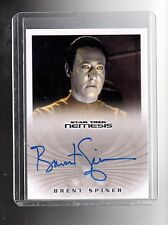 Star Trek Nemesis NA6  B.Spiner as B-4 auto card