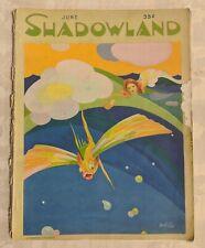 June 1921 Shadowland Art Fashion Magazine Deco Hopfmuller Cover As-is