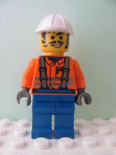LEGO Minifig con003 @@ Construction Worker - Black Constr Helmet 6474 6600 9371