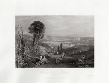 "Fabulous William TURNER 1800s Engraving ""Stunning Turner Landscape"" SIGNED COA"