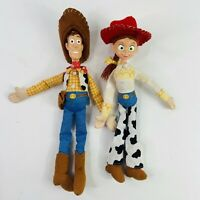 Disney Pixar Toy Story Woody And Jessie Figures Dolls 12 Inch High Used