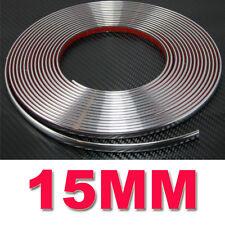 15 mm (1.5 Cm) X 7.5 M Tira Estilo de coche decoración adorno de cromo adhesivo de moldeo