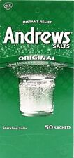 Andrews Salts original, Relief from upset stomach, heartburn, Indigestion  50 Ct