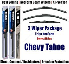 3-Pack Wipers Front & Rear - NeoForm - 1995-1999 Chevrolet Tahoe - 16180x2/30130