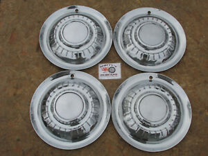 "1955 PLYMOUTH BELVEDERE, SAVOY, SUBURBAN 15"" WHEEL COVERS, HUBCAPS, SET OF 4"