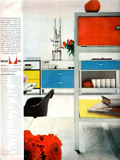 Herman Miller George Nelson Furniture STEEL FRAME COLLECTION 1954 Color Print Ad