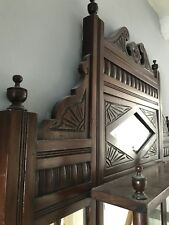 Beautiful Victorian Overmantle Mirror pick up Brighton