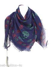 Alexander MCQUEEN CLASSIC Multi coloured SKULL pashmina sciarpa colori forti BNW