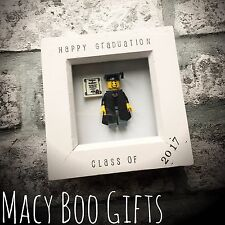 Regalo Personalizado Lego Mini Figura Estatuilla graduación escolar Palanca GCSE presente