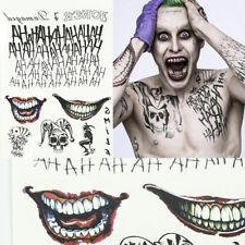 Halloween Batman The Joker Temporary Tattoo Suicide Squad Costume Fancy Props