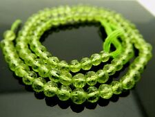 """Genuine Natural Peridot Micro Faceted 4mm Round Gemstone Bead 13"""" Strand"""