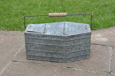 VINTAGE Vecchia Scatola Esca esche zincato conservare il recipiente PESCA VINTAGE-Freepostage