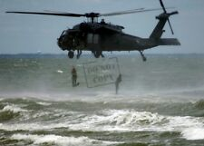 Us Navy Usn Seal Team exit helicopter before securing the beach St 8X12 Photo