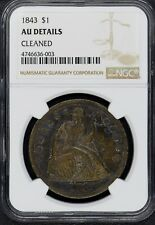 1843 Seated Liberty Dollar $1 NGC AU Details