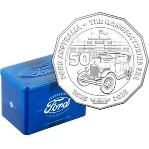Australia 2017 FORD Classic Collection12x50c Coins Set in Retro Tin Box >>>