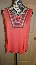NICE WOMANS HOT KISS TANK TOP SHORT BLOUSE SIZE X LARGE MULTI COLORS