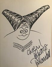 PAT CARROLL Hand Signed AL HIRSCHFELD PRINT - CINDERELLA Rare Broadway