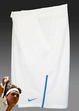 Nuevo nike Hombre Drifit Stay Cool Pantalones Tenis Blanco (Azul Recortar) XL