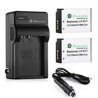 2x LP-E17 Battery + Charger For Canon EOS Rebel T6i T7i T6s 77D M3 M5 750D 760D