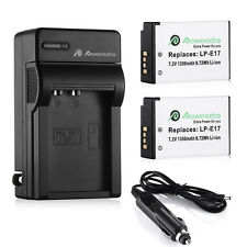 2x LP-E17 Battery + Charger For Canon EOS Rebel T6i T7i T6s M3 M5 750D 760D