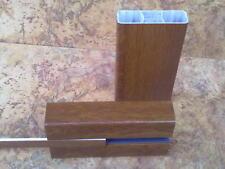 Zaunriegel Querriegel Kunststoff Zaun Balkon 80x35mm farbig 1lfm  bis L 197 cm