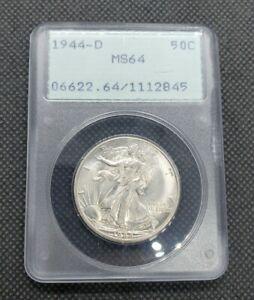 1944-D Walking Liberty Half Dollar | PCGS MS64 (Rattler)