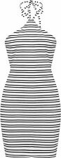 Regular Size Polyester Striped Dresses for Women