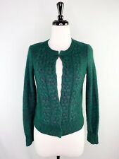 Max Studio Green Knit Sweater Cardigan S Nyon Angora Rabbit Hair Blend