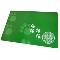 Celtic FC Official Football Gift Pet Dog Cat Feeding Mat Green