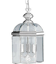 Searchlight 5133cc Chrome 3 Lamp Moroccan Style Lantern/Bevelled Glass Pendant