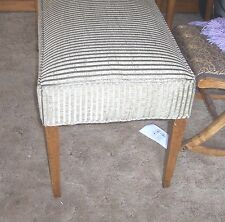 New Sage Green Stripe End of Bed Bench  (BN74)