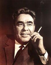 LEONID BREZHNEV clipping Soviet Union B&W photo smoking Secretary communism CPSU