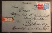1938 Tattenitz Germany Sudetenland Provisional Cancel Cover To Reichenberg