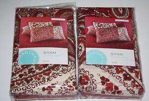 Martha Stewart- Paisley Blocks Quilted Standard Pillowsham NIP