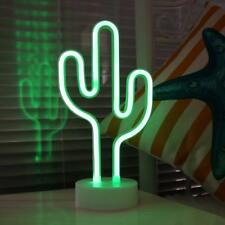 Cactus Neon Sign Durable Bar Drinks Pub Sign Table Decor Room Game Lights 11.8""