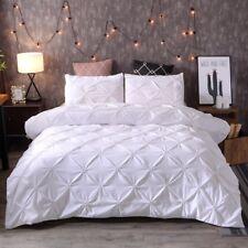 Pintuck Rapport Duvet Cover Bedding Set Modern Quilt Cover Pillow Case Cotton