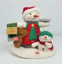 2015 Hallmark Jingle Pals Time For Cookies Animated Singing Snowman Plush w Tag