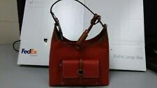 Dooney & Bourke BCAMB0647 Cambr.Tasseled Small Pebble Leather Hobo Bag (Red) NEW