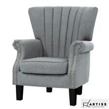 RETURNs Artiss Upholstered Fabric Armchair Accent Tub Chairs Modern seat Sofa Lo