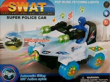 LARGE  POLICE CAR PROJECTION BUMP AND GO TOY LED LIGHTS MUSIC BOYS GIRLS TOYS