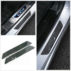 2x Carbon Fiber Car Scuff Plate Rear Door Sill Cover Panel Step Protector Guard