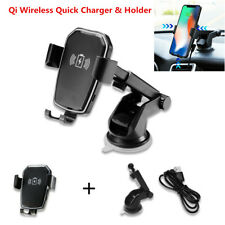 10W Car Dash Board Sucker Mount Gravity Qi Wireless Quick Charger & Phone Holder