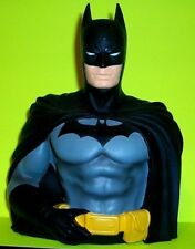 BATMAN Caped Crusader Vinyl BUST Coin Money Bank DC Comic Books Toy Figure