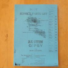 AUSTIN gipsy.body Service Parts list.illustrated.