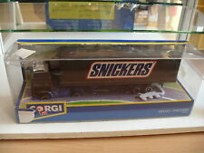 "Corgi Volvo Truck + trailer ""Snickers"" in Brown in Box"