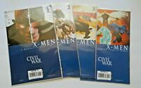 Civil War X-Men #'s 1 - 4  Marvel Comic 2006  Complete Run HIGH GRADE NM (D230)