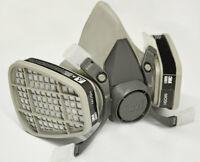 3M 6200 Half Facepiece Respirator W/6001 OV Cartridge Painting&Spraying MEDIUM