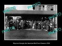 OLD POSTCARD SIZE PHOTO WAYCROSS GEORGIA AMERICAN RED CROSS CANTEEN WWI 1920 1